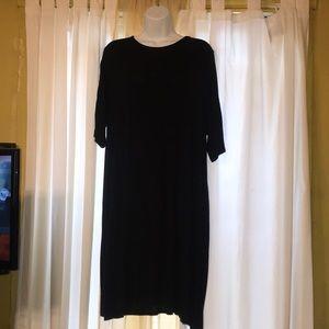 Boohoo swing dress black open back 16